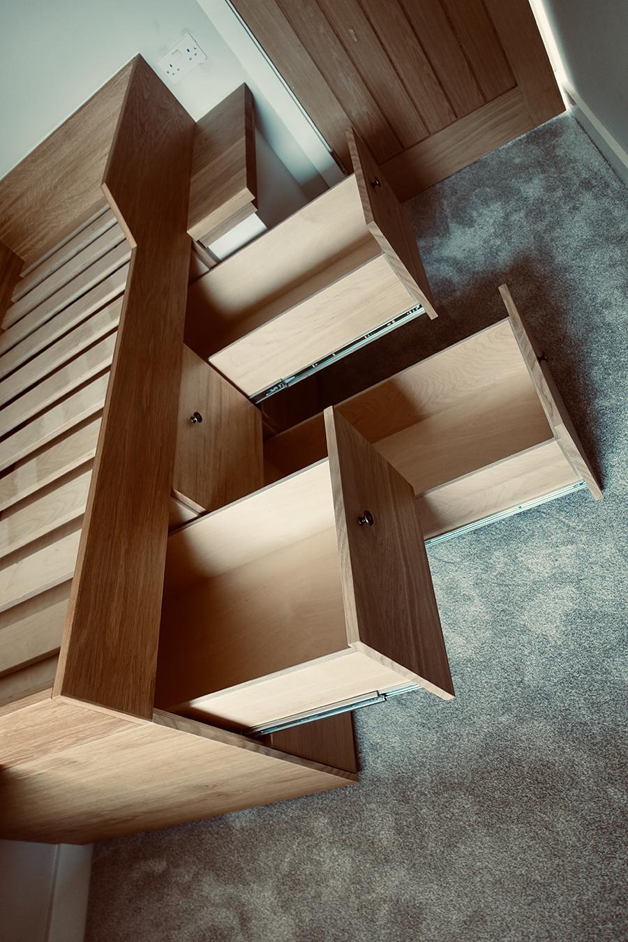 Inbuilt Bedding Shelves
