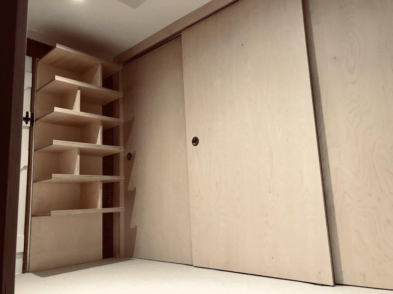 Wardrobe with shelving