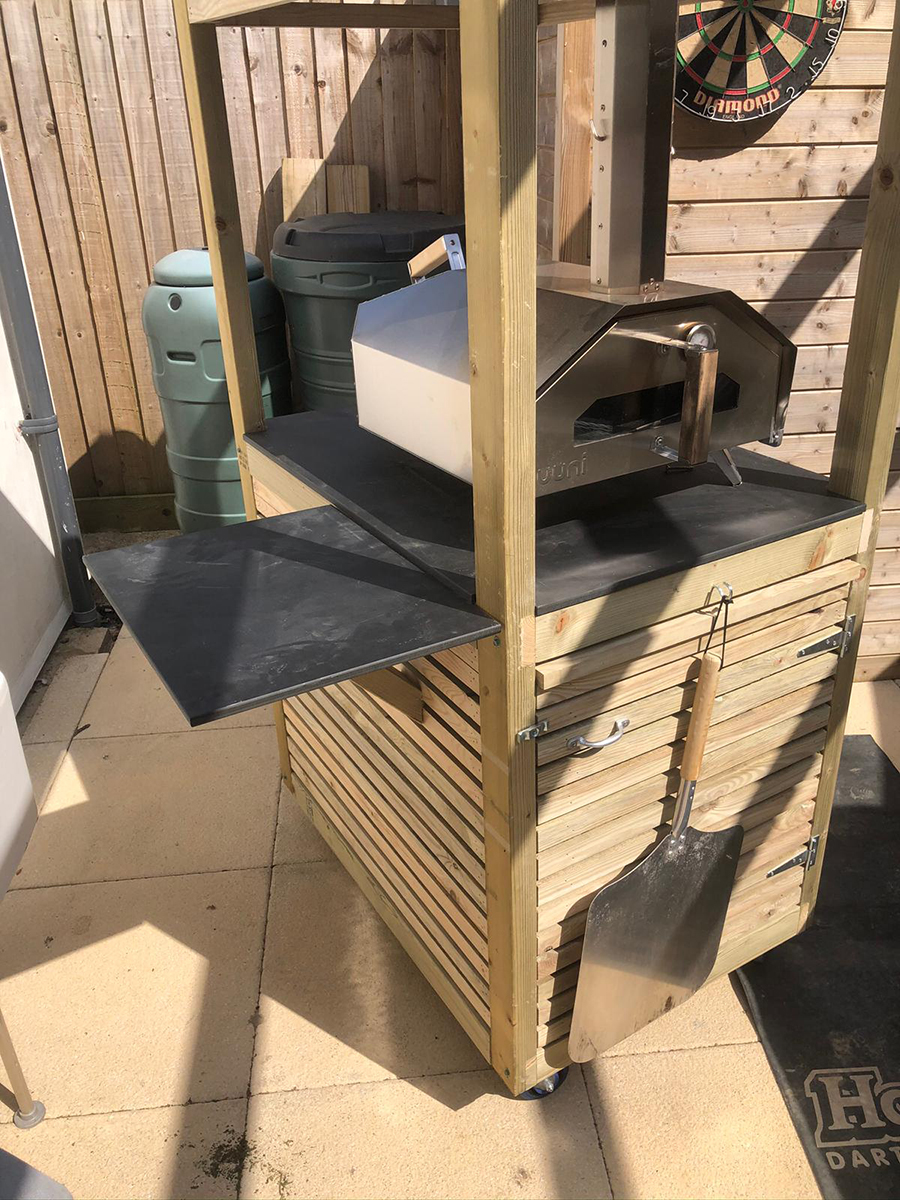 Portable Pizza Oven Stand Preparation Space Up