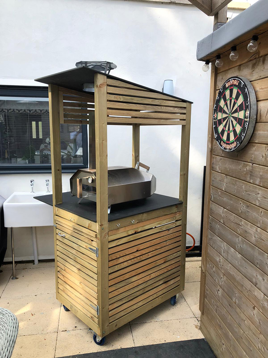 Aperture - Portable Pizza Oven Stand View From Right