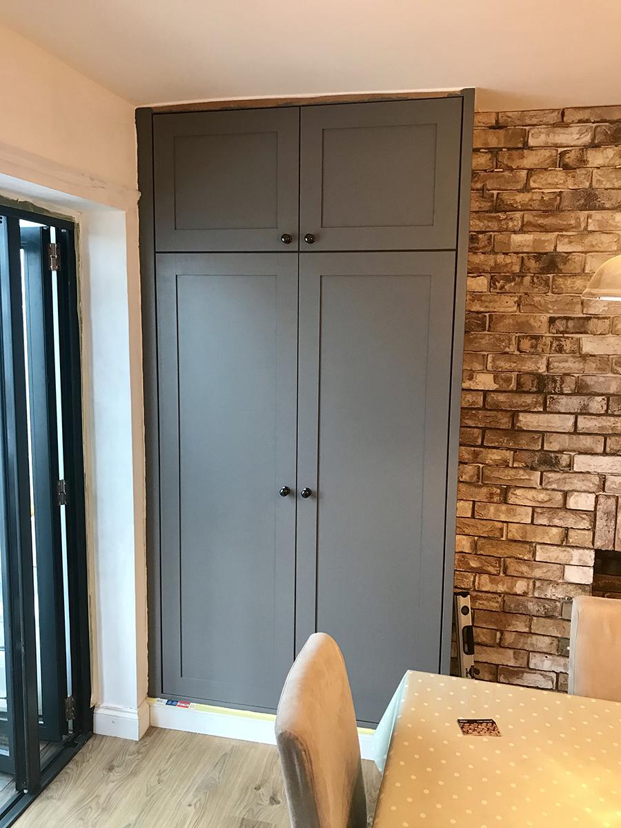 Grey Double Cupboards
