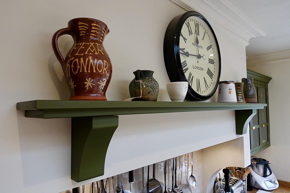 Kitchen Clock Shelf