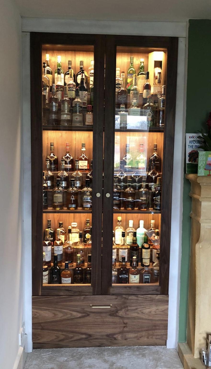 Full Drinks Cupboard