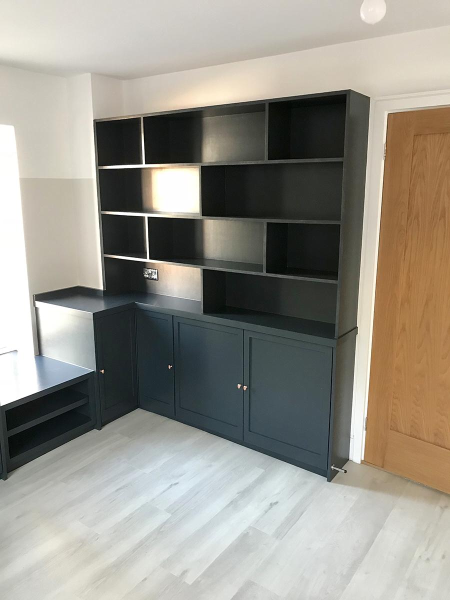 Grey Corner Storage