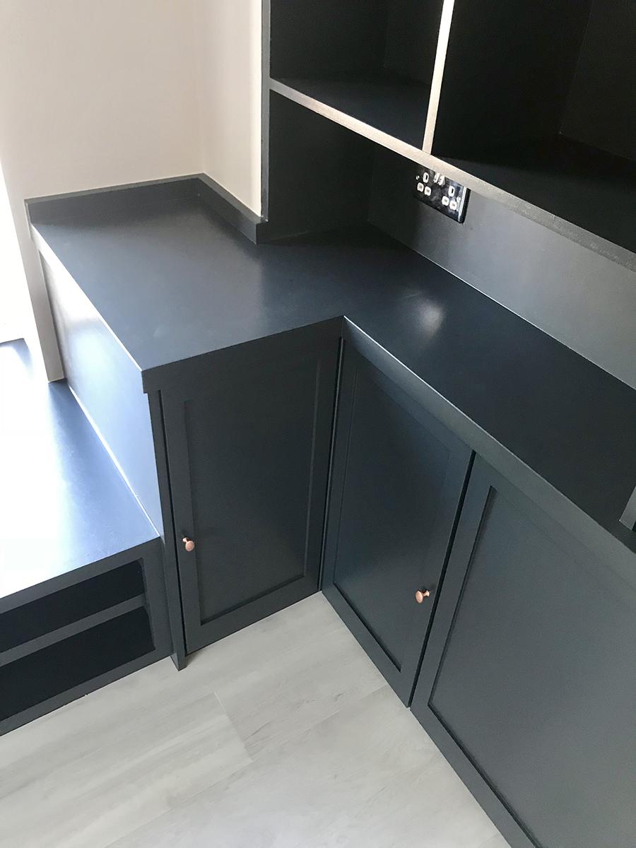 Grey Low Corner Storage