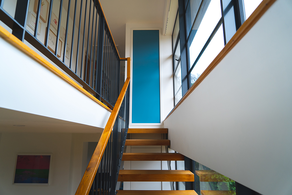 Blue Accent Panelling