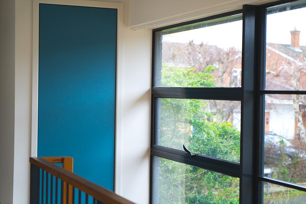 Blue Accent Panel Window