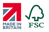 FSC Certified Timber & British Made Logo